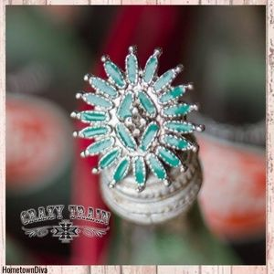 Crazy Train TURQUOISE ** TUMBLEWEED SLIDE / RING